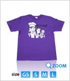 08 オリエンタル★オリジナルTシャツ マンガ柄 (紫)
