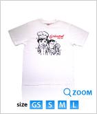08 オリエンタル★オリジナルTシャツ マンガ柄 (白)