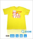 08 オリエンタル★オリジナルTシャツ マンガ柄 (黄)